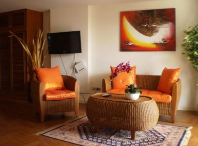 Ferieudlejning Rayong - Lejlighed ved strand - stuen
