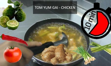 Opskrift på Tom Yum Gai (Kylling) - Thaimad